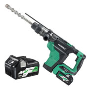 Hikoki DH36DMA/JGZ 36v MultiVolt SDS-Max Rotary Demolition Hammer with 2 x 2.5Ah Batteries, Charger and Case