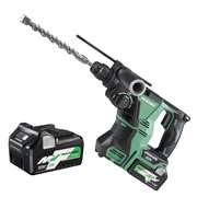 Hikoki DH36DPA/JRZ 36v MultiVolt SDS+ Drill with 2 x 2.5Ah Batteries, Charger and Case