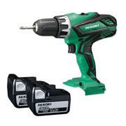 Hikoki DV18DGAL/JMZ 18v Combi Drill with 2 x 3Ah Batteries, Charger and Case