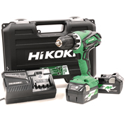 Hikoki DV18DGLJRZ 18v  Combi Drill with 2 x 5Ah MultiVolt Batteries, Charger and Case