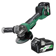 Hikoki G3613DB/JRZ 36v MultiVolt 125mm Brushless Grinder with 2 x 2.5Ah Batteries, Charger and Case