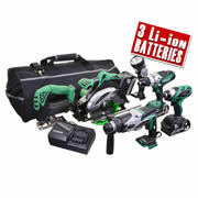 Hitachi 6KITB Hitachi 18v Li-ion 6 Piece Kit