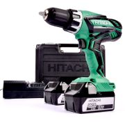 Hitachi DV18DGL2 Hitachi 18v Li-ion Hammer Drill Driver (2 x 5.0Ah Batteries)