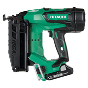 Hitachi NT1865DBSL/JX Hitachi Cordless 18v 15 Gauge Brushless Straight Finish Nailer