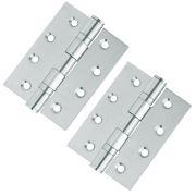 Hoppe 8567837 2x Ball Bearing Hinges 102 x 76mm - Stainless Steel