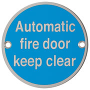 Hoppe 87105714 Automatic Fire Door Keep Clear Sign