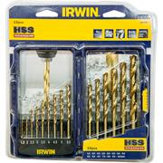 Irwin 10503991 HSS Pro TiN 15 Piece Drill Bit Set