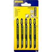 Irwin 10504221 100mm Wood Cutting HCS Jigsaw Blades T111C - Pack of 5