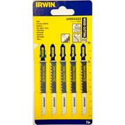 Irwin 10504222 100mm Wood Cutting HCS Jigsaw Blades T101D - Pack of 5