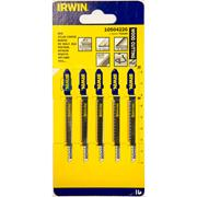Irwin 10504226 83mm Wood Cutting HCS Jigsaw Blades T101AO - Pack of 5