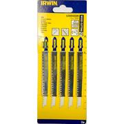 Irwin 10504228 115mm Wood Cutting HCS Jigsaw Blades T234X- Pack of 5