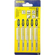 Irwin 10504231 100mm Metal Cutting HSS Jigsaw Blades T127D - Pack of 5