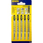 Irwin 10504233 100mm Metal Cutting HSS Progressive Jigsaw Blades T123X - Pack of 5