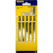 Irwin 10504295 115mm Wood Cutting HCS U-Shank Jigsaw Blades U234X - Pack of 5