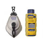Irwin 10507684 STRAIT-LINE MACH 6 Chalk Reel Set & Blue 113g Chalk