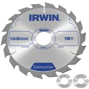 Irwin 1897193 Irwin Construction Saw Blade 165mm x 30mm 18T Corded