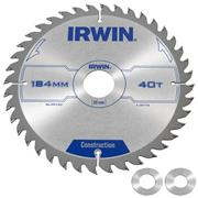 Irwin Construction Saw Blade 184mm x 30mm 40T Corded