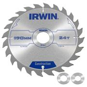 Irwin 1897199 Irwin Construction Saw Blade 190mm x 30mm 24T Corded