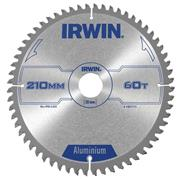 Irwin 1907775 210mm 60 Tooth Aluminium Cutting Circular Saw Blade