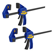 Irwin T518QCEL7PK2 IRWIN Quick-Grip Medium-Duty Clamp 450mm/18'' - Pack of 2