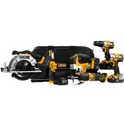 JCB 186PK 18v 6 Piece Kit with 2 x 4Ah and 2 x 2Ah Batteries, Charger and 3 x Cases
