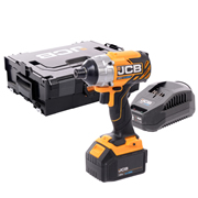 JCB 18BLID-ITS-4X 18v Brushless Impact Driver with 1 x 4Ah Battery, Charger and Case