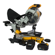 JCB 18BLMS-5X 18v 185mm Brushless Slide Compound Mitre Saw with 1 x 5Ah Battery and Charger