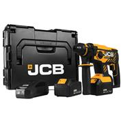 JCB BLRH-5 18v Brushless SDS+ Drill with 2 x 5Ah Batteries, Charger and Case
