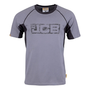 JCB JCB Trade Grey And Black Printed Logo Tshirt