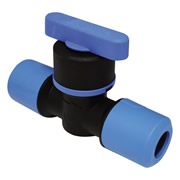 Speedfit UGSTV2515 Speedfit 25mm x 15mm Blue Copper Stop Tap