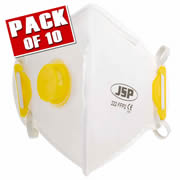 JSP BEB120-101-000 JSP OLYMPUS FoldFlat Disposable Dust Mask FFP2- Valved PK10