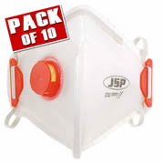 JSP BEB130-101-000 JSP OLYMPUS FoldFlat Disposable Dust Mask FFP3- Valved PK10