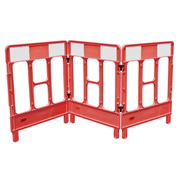 JSP KBB023-000-600 JSP Workgate 3 Gate Red c/w Reflective Panel