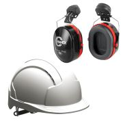JSP EVOLITEWPK1 JSP EVOLITE Safety Helmet Set Vented with Slip Ratchet (White)