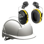 JSP EVOLITEWPK2 JSP EVOLITE Safety Helmet Set Vented with Slip Ratchet (White)