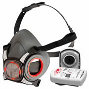 JSP FORCE8K1 FORCE 8 Typhoon Valved Half Mask - 2 x P3 PRESS TO CHECK  Filters