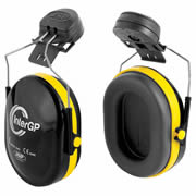JSP INTERGP Helmet Mounted Ear Defenders (Black/Yellow) SNR 25dB