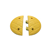 JSP HAM000-830-200 JSP Jumbo 7.5cm Speed Ramp End Caps Yellow 4MPH - Pair