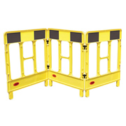 JSP KBB028-000-200 JSP Workgate 3 Gate Yellow c/w Black Panel