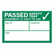 Kewtech 500PASS Kewtech 500 x Visual Inspection Labels 39mm x 25mm