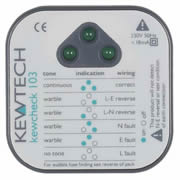 Kewtech KEWCHECK103 Kewtech 103 Socket Tester w/Audible Tone & LED
