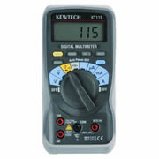 Kewtech KT115 Kewtech Digital Multimeter AC/DC 300V 10A Data Hold wth Holster