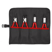 Knipex  Knipex Set Of 4 Circlip Pliers in Roll Bag