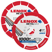 Lenox 2030870 Metalmax Cut-Off Blade 115mm (4.5'') & 230mm (9'') Pack