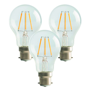 Luceco LA22W6F813LE Luceco LED Filament A60 6w B22 Non-Dimmable Lamp - Pack of 3