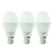 Luceco LA22W6W47301 Luceco LED Classic A60 6.5w B22 470Lm Warm White Lamps - Pack of 3