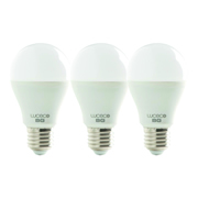 Luceco LA27W10W81301 LED Classic A60 10w E27 810Lm Warm White Lamps - Box of 3