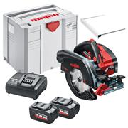 Mafell  18V 185mm Circular Saw with 2 x 5.5Ah Batteries Charger Case and Rail