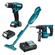 Makita 108PK2 Makita 108PK2 10.8v CXT 3 Piece Pack with 2 x 1.5Ah Batteries and Charger