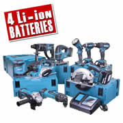 Makita 10BTJ Makita 18v Li-ion 10 Piece Kit